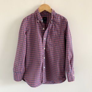 🆕 Boys' Gap Gingham Button Down Shirt S (6-7)